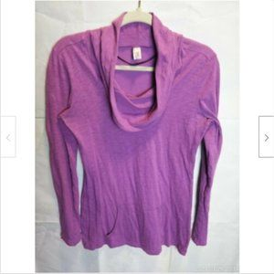 Lucy Activewear Cowl Neck Hooded Pullover Tunic XS